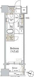 東京メトロ銀座線 神田駅 徒歩2分の賃貸マンション 7階1Kの間取り