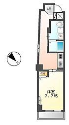 東京メトロ日比谷線 八丁堀駅 徒歩3分の賃貸マンション 2階1Kの間取り