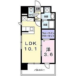 レジデンス22 6階1LDKの間取り