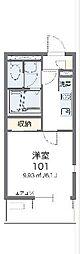 レオネクストコージーハウス赤坂 1階1Kの間取り