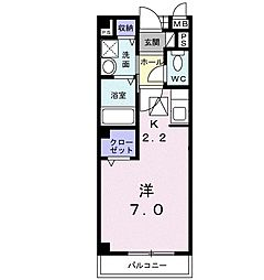 JR成田線 湖北駅 徒歩13分の賃貸アパート 1階1Kの間取り