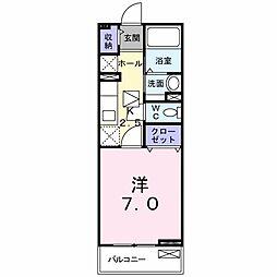 JR常磐線 取手駅 徒歩11分の賃貸アパート 1階1Kの間取り