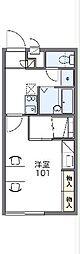 JR常磐線 荒川沖駅 バス25分 阿見五本松下車 徒歩3分の賃貸アパート 1階1Kの間取り