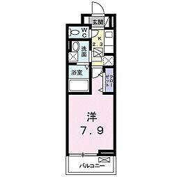 つくばエクスプレス つくば駅 徒歩26分の賃貸アパート 2階1Kの間取り