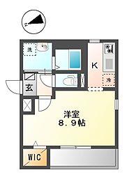MK Residence Waseda 3階1Kの間取り