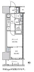 名古屋市営東山線 新栄町駅 徒歩8分の賃貸マンション 7階1DKの間取り