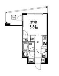 都営新宿線 曙橋駅 徒歩4分の賃貸マンション 2階1Kの間取り