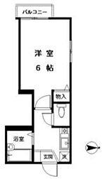 JR山手線 新宿駅 徒歩10分の賃貸マンション 3階1Kの間取り