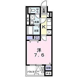 京王線 東府中駅 徒歩11分の賃貸マンション 3階1Kの間取り