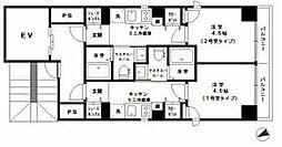 JR京浜東北・根岸線 大森駅 徒歩5分の賃貸マンション 2階1Kの間取り