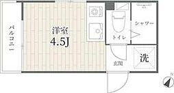 京王井の頭線 神泉駅 徒歩2分の賃貸マンション 1階ワンルームの間取り