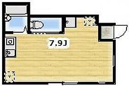 JR京浜東北・根岸線 蒲田駅 徒歩13分の賃貸アパート 1階ワンルームの間取り