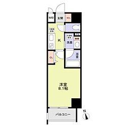 名古屋市営桜通線 丸の内駅 徒歩8分の賃貸マンション 6階1Kの間取り