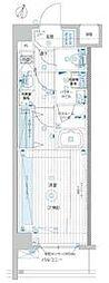 JR埼京線 北赤羽駅 徒歩5分の賃貸マンション 1階1Kの間取り
