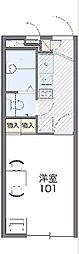 JR東海道本線 戸塚駅 バス19分 原宿下車 徒歩4分の賃貸マンション 1階1Kの間取り
