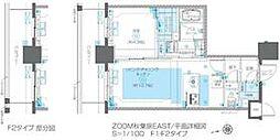 JR総武線 浅草橋駅 徒歩5分の賃貸マンション 13階1LDKの間取り