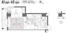 都営大江戸線 月島駅 徒歩6分の賃貸マンション 3階1LDKの間取り