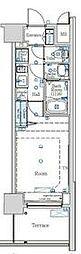 都営新宿線 西大島駅 徒歩12分の賃貸マンション 1階1Kの間取り