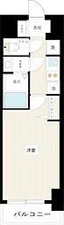 都営新宿線 西大島駅 徒歩12分の賃貸マンション 2階1Kの間取り
