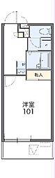 JR高崎線 高崎駅 バス29分 下大類下車 徒歩2分の賃貸マンション 3階1Kの間取り