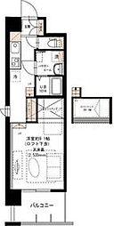 京王相模原線 京王多摩センター駅 徒歩8分の賃貸マンション 2階ワンルームの間取り
