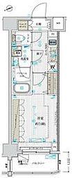 東京メトロ東西線 南砂町駅 徒歩10分の賃貸マンション 8階1Kの間取り