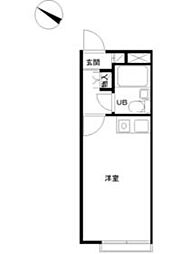 JR京浜東北・根岸線 港南台駅 徒歩15分の賃貸アパート 2階ワンルームの間取り