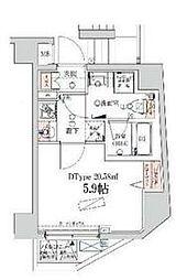 京急本線 戸部駅 徒歩6分の賃貸マンション 5階1Kの間取り