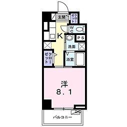 京急本線 鮫洲駅 徒歩4分の賃貸マンション 4階1Kの間取り