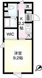 東京メトロ千代田線 明治神宮前駅 徒歩10分の賃貸マンション 3階1Kの間取り