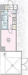 東京メトロ半蔵門線 住吉駅 徒歩6分の賃貸マンション 1階1Kの間取り