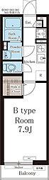 西武池袋線 ひばりヶ丘駅 徒歩13分の賃貸アパート 3階1Kの間取り