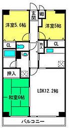 キャラミOMIYA 1階3LDKの間取り