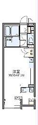 JR東北本線 蓮田駅 徒歩16分の賃貸アパート 2階ワンルームの間取り