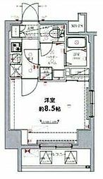 東武伊勢崎線 東向島駅 徒歩6分の賃貸マンション 2階1Kの間取り