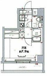 東武伊勢崎線 東向島駅 徒歩6分の賃貸マンション 6階1Kの間取り