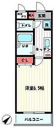 JR京浜東北・根岸線 磯子駅 徒歩8分の賃貸アパート 1階1Kの間取り