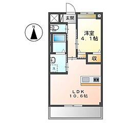 京王線 調布駅 バス17分 諏訪神社下車 徒歩3分の賃貸マンション 3階1LDKの間取り