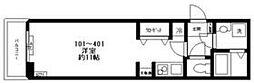 都営三田線 西巣鴨駅 徒歩2分の賃貸マンション 3階ワンルームの間取り