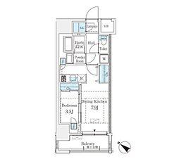 JR山手線 渋谷駅 徒歩8分の賃貸マンション 4階1DKの間取り