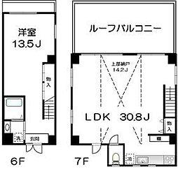ハーヴェスト 6階1SLDKの間取り