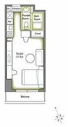 JR山手線 池袋駅 徒歩2分の賃貸マンション 9階ワンルームの間取り