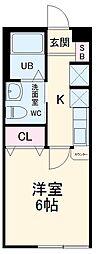 東武伊勢崎線 一ノ割駅 徒歩4分の賃貸アパート 1階1Kの間取り