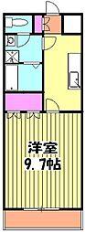 JR成田線 東我孫子駅 徒歩1分の賃貸アパート 2階1Kの間取り