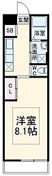 JR常磐線 我孫子駅 徒歩10分の賃貸アパート 1階1Kの間取り