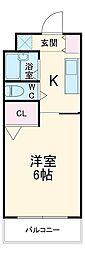 愛知環状鉄道 山口駅 徒歩2分の賃貸アパート 2階1Kの間取り