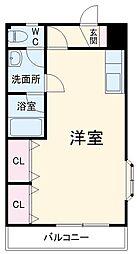 JR成田線 成田駅 徒歩14分の賃貸アパート 2階1DKの間取り