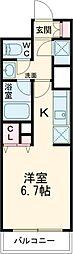 東急田園都市線 駒沢大学駅 徒歩2分の賃貸マンション 29階ワンルームの間取り