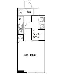 小田急小田原線 下北沢駅 徒歩4分の賃貸マンション 1階1Kの間取り
