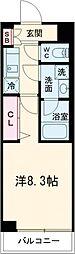 ARCOBALENO SAKURASHINMACHI 1階1Kの間取り